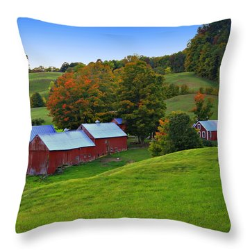 Vermont's Jenne Farm Throw Pillow