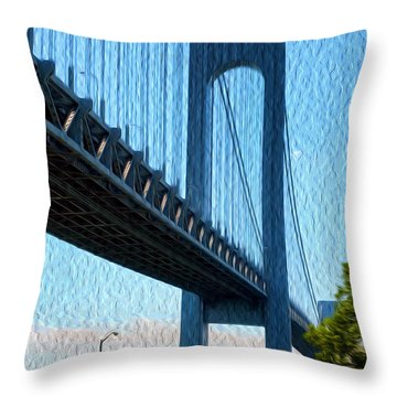 Verrazano Bridge Throw Pillow
