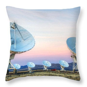 Very Large Array Of Radio Telescopes  Throw Pillow by Bob Christopher