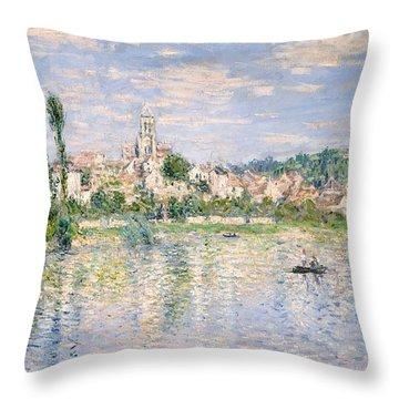 Vetheuil In Summer Throw Pillow