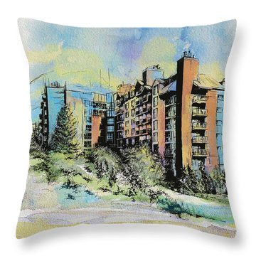 Victoria Art Throw Pillow by Catf