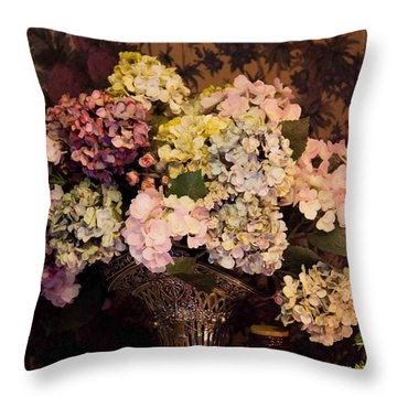Throw Pillow featuring the photograph Victorian Christmas by Patricia Babbitt