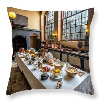 Victorian Kitchen Throw Pillow