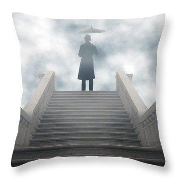 Victorian Man Throw Pillow by Joana Kruse