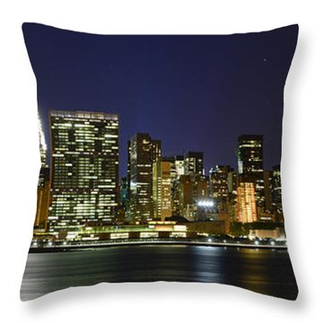 View From Gantry Plaza State Park Throw Pillow by Theodore Jones