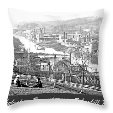 View Of Conshohocken Pennsylvania C 1900 Throw Pillow