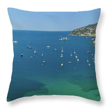 View Of Mediteranean Overlooking French Throw Pillow