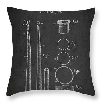 Vintage Baseball Bat Patent From 1926 Throw Pillow