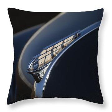 Vintage Plymouth Hood Ornament Throw Pillow