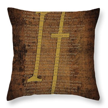 Vintage Poem 3 Throw Pillow