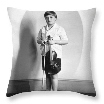 Violinist Yehudi Menuhin Throw Pillow