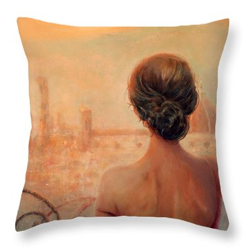 Visions Of Florence Throw Pillow