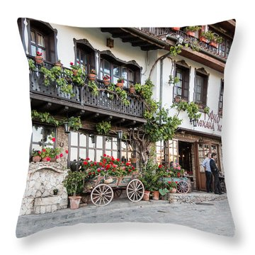 V.turnovo Old City Street View Throw Pillow