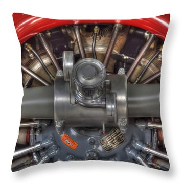 Vultee Bt-13 Valiant Propeller Throw Pillow