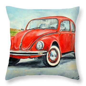Vw Beetle Throw Pillow