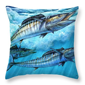 Wahoo In Freedom Throw Pillow