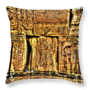 Throw Pillow featuring the photograph Wailing Wall by Doc Braham