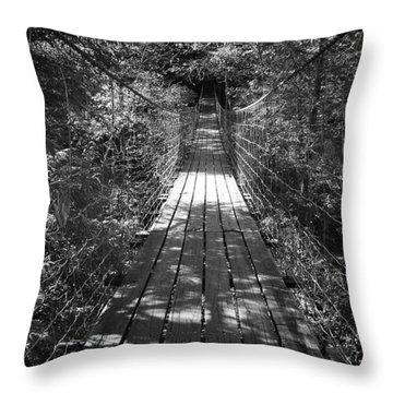 Walk Through Woods Throw Pillow
