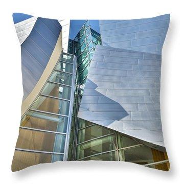 Walt Disney Concert Hall Vertical Los Angeles Ca Throw Pillow by David Zanzinger