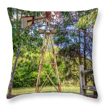 Throw Pillow featuring the photograph Warm Breeze by Rob Sellers