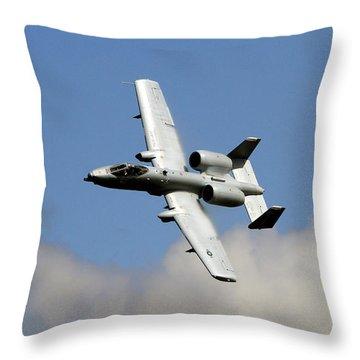 Throw Pillow featuring the photograph Warthog by John Freidenberg