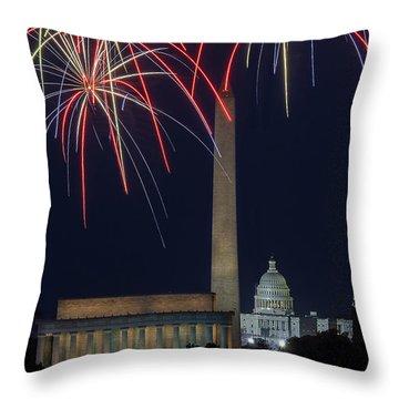 Washington Dc Fourth 3 Throw Pillow