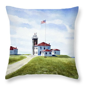 Watch Hill Ri Lighthouse Throw Pillow
