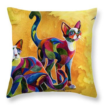 Watch The Birdie Throw Pillow