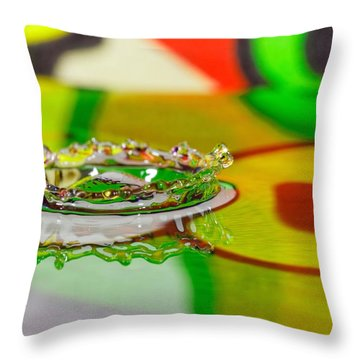 Water Crown Throw Pillow