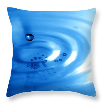 Water Drops Throw Pillow by Michal Bednarek