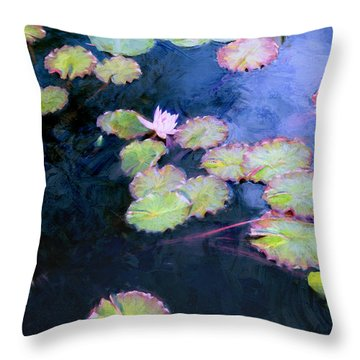 Throw Pillow featuring the photograph Water Lilies by John Rivera