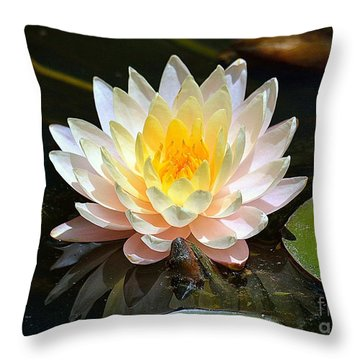Throw Pillow featuring the photograph Water Lily by Lisa L Silva