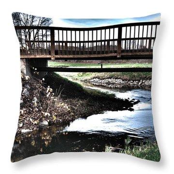 Throw Pillow featuring the photograph Water Under The Bridge by Deborah Klubertanz