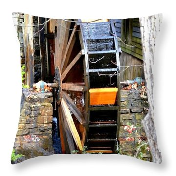 Throw Pillow featuring the photograph Water Wheel by Tara Potts