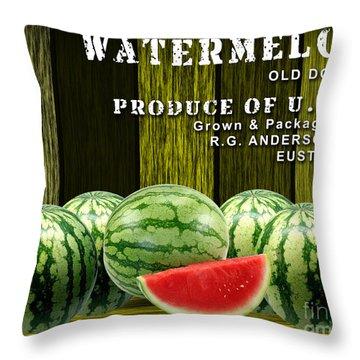 Watermelon Farm Throw Pillow