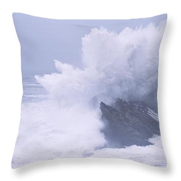 Waves Breaking On The Coast, Shore Throw Pillow