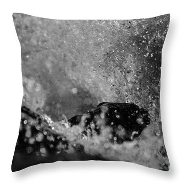 Waves Crashing In Throw Pillow