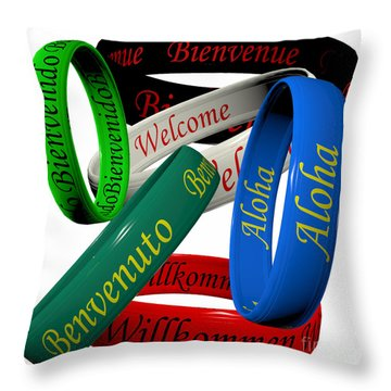 Welcome Throw Pillow by Cecil Fuselier