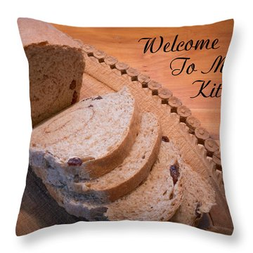 Welcome To My Kitchen Throw Pillow