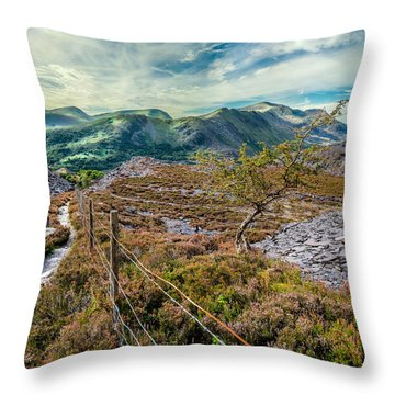 Welsh Mountains Throw Pillow