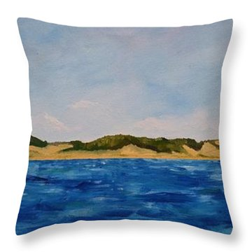 West Michigan Dunes Throw Pillow by Michelle Calkins