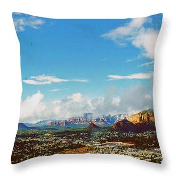 West Sedona Throw Pillow by Gary Wonning