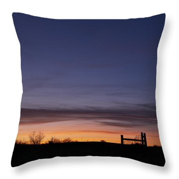 West Texas Sunset Throw Pillow
