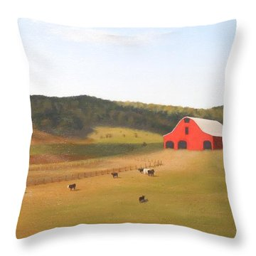West Virginia Byway Throw Pillow