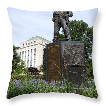 West Virginia Coal Miner Throw Pillow