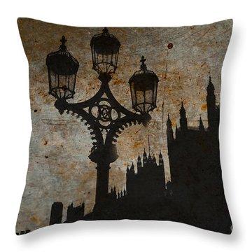 Throw Pillow featuring the digital art Westminster Silhouette by Matt Malloy