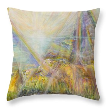 White Buffalo 12 Throw Pillow by Cathy Long