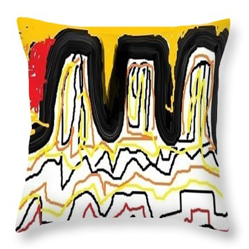 Throw Pillow featuring the drawing White Desert by Don Koester