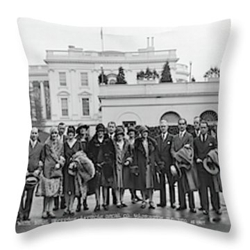 White House Reception, American Opera Throw Pillow