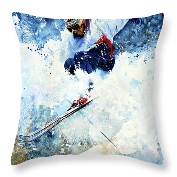 White Magic Throw Pillow by Hanne Lore Koehler